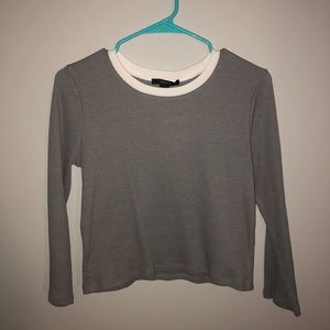 Gray Crop Top
